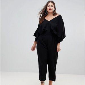 ASOS DESIGN Curve jumpsuit with kimono sleeve